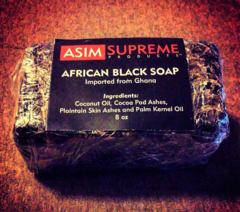 African Black Soap ( 8 oz.)