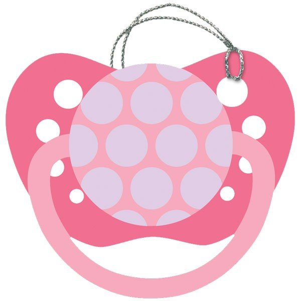 Baby Pink Pacifier Gift Tag