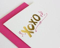 XOXO Pink & Gold FoldedCard