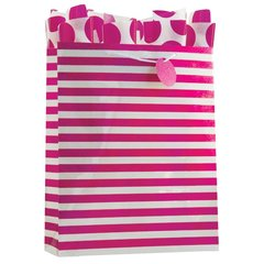 Magenta Stripe Gift Bag