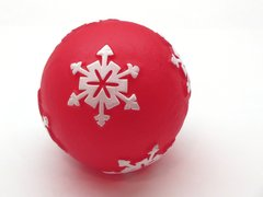 Holiday Snowflake Ball Squeaky Dog Toy