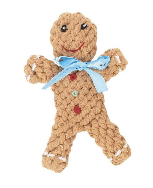 Gingerbread Rope Dog Tug Toy