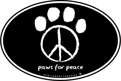 Paws for Peace - Oval Magnet