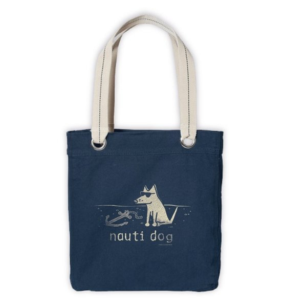 NautiDog Canvas Tote Bag