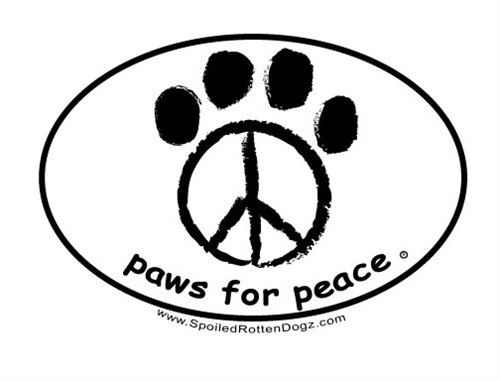 Paws for Peace - Decal