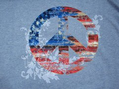 Peace in the USA Ladies T-shirt