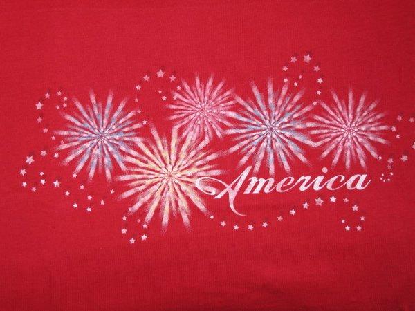 American Fireworks Ladies T-shirt