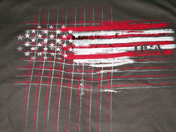 USA Red White Flag Unisex tee