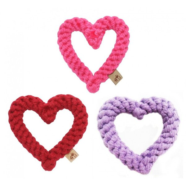 Heart Rope Dog Tug Toy
