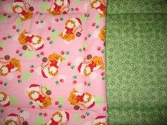 CrateMates MEDIUM Pet Pad Bed - Kitty Santa