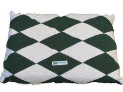 CrateMates Diamond Pillow Pet Bed - Green Gray