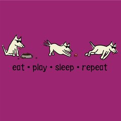 Eat, Sleep, Play, Repeat (Ladies SMALL only)