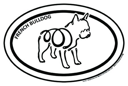 French Bulldog - K Line - Oval Magnet