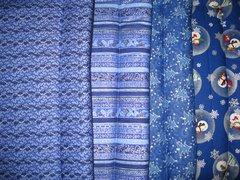 CrateMates MEDIUM Pet Pad Beds - Set of 4 - Blue Winter