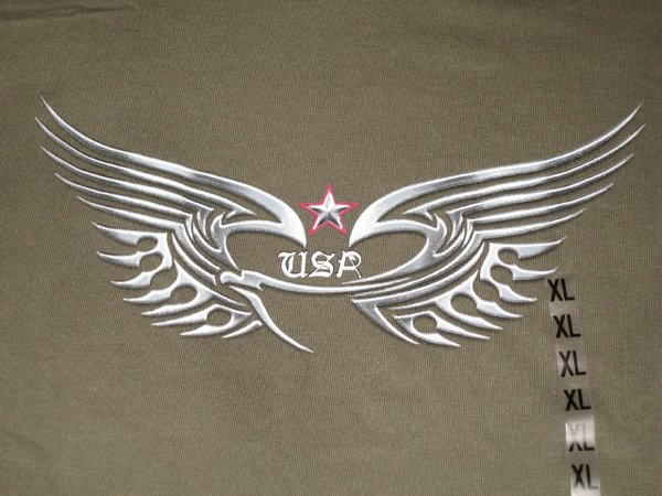 USA Chrome Eagle Army Green Unisex T-shirt
