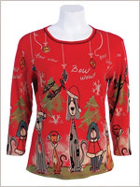 Bow Wow Christmas Shirt - Red