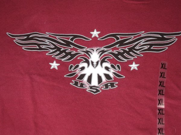 USA Black Eagle on Maroon Unisex tee