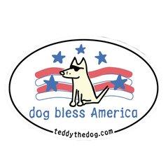 Dog Bless America - Magnet