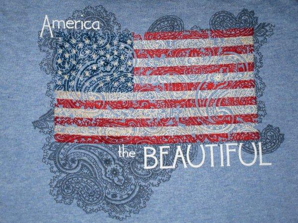 America the Beautiful Ladies T-shirt