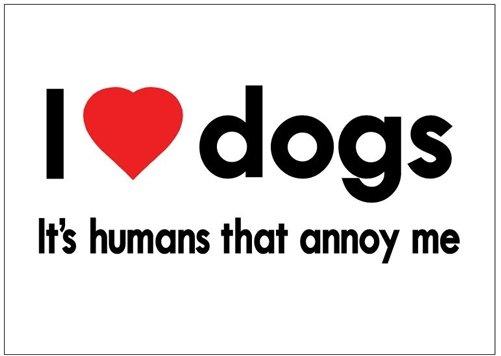 I Love Dogs - Magnet