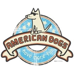 American Dogs - White Ladies V-neck Tee