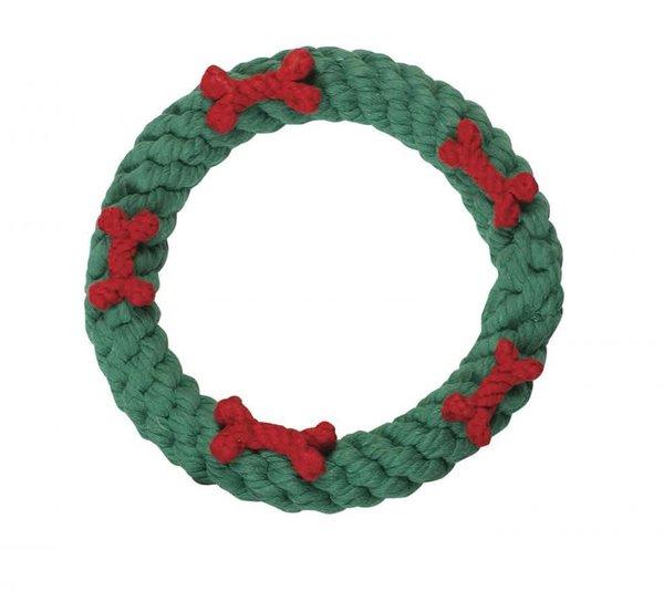 Holiday Wreath Rope Dog Tug Toy LARGE