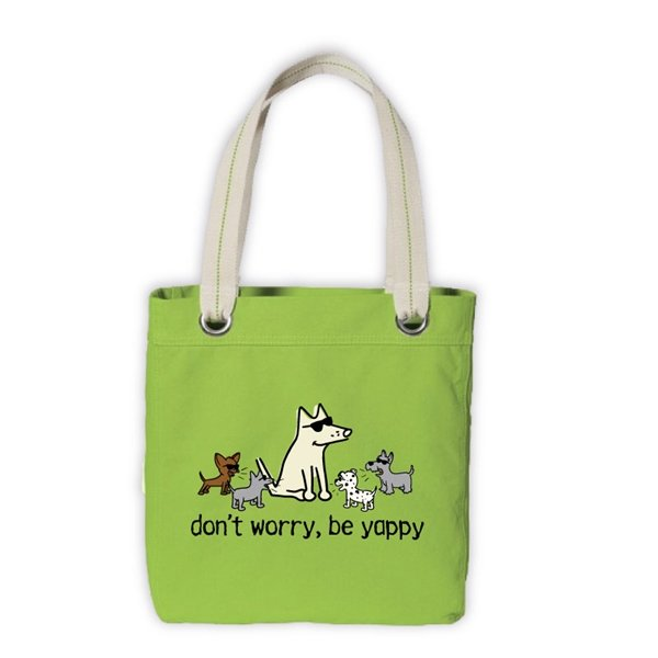 Don't Worry Be Yappy Canvas Tote Bag