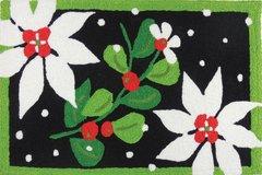 Poinsettias and Mistletoe