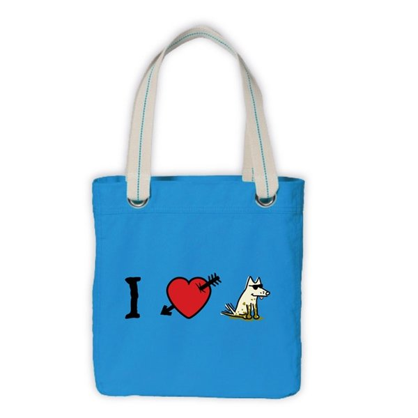 I Love Dogs Canvas Tote Bag