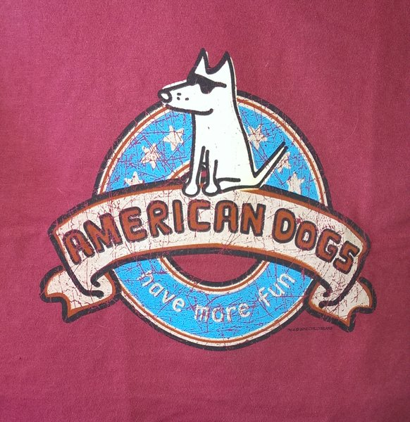 American Dogs - Red Unisex T-shirt