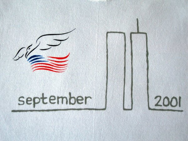 September 11 Remembrance Tee with Eagle - White T-shirt