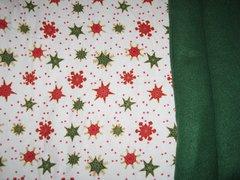 CrateMates MEDIUM Pet Pad Bed - Holiday Snow
