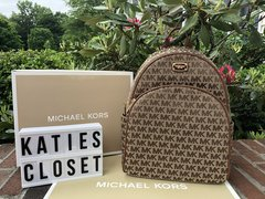 BROWN MICHAEL KORS LARGE BACKPACK