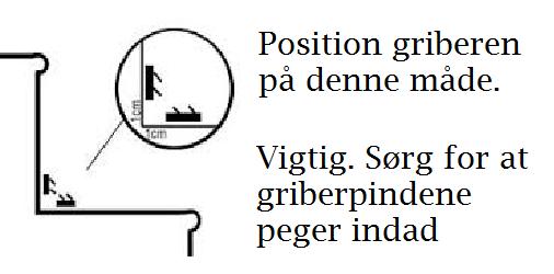 Position og retning af gribestænger