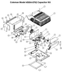 Coleman Heat Pump Model 45004-8762 Capacitor Kit
