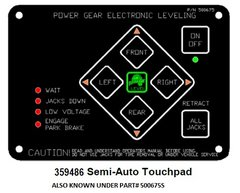 Lippert Electronic Leveling Touch Pad Kit 359486