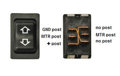 Slide-Out Extend / Retract Switch, Black, 12395