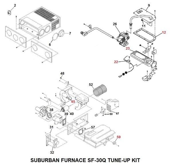 Suburban Rv Furnace >> Suburban Furnace Model SF-30Q Tune-Up Kit | pdxrvwholesale