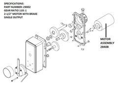 Barker Slide Out Motor Only, 12 Volt, 28408