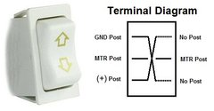 Slide-Out Extend / Retract Switch, White, 12385