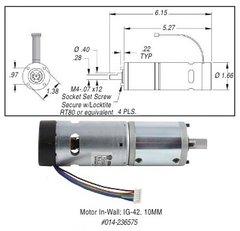 In-Wall Motor, Standard, IG-42, 10MM, 236575