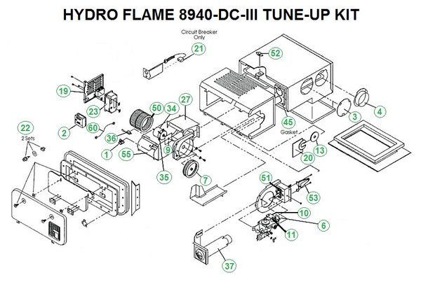 atwood furnace model 8940 dc iii parts pdxrvwholesale hydro flame rv furnace diagram