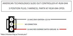 American Technologies Slide Out Controller 3 Position Harness / Plug