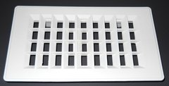 """Ceiling Vent, White, 4"""" X 8"""" Cutout, 5-1/4"""" x 9-1/4"""" Overall"""