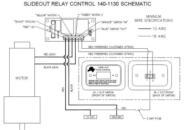 power gear slide out controller 140 1130 pdxrvwholesale coleman ac wiring diagram