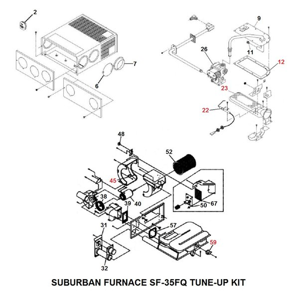 Suburban Furnace Model Sf 35fq Tune Up Kit Pdxrvwholesale