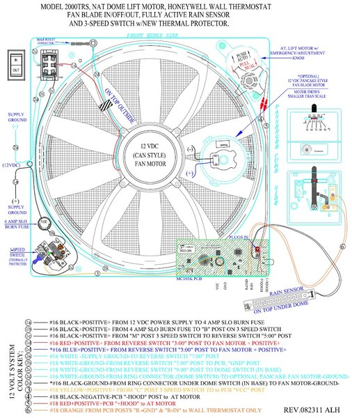 Fan Tastic Vent Printed Circuit Board W Rain Sensor 9025 90 on furnace parts diagram