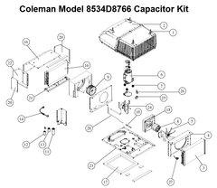 Coleman Heat Pump Model 8534D8766 Capacitor Kit