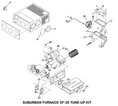 Suburban Furnace Model SF-35 Tune-Up Kit