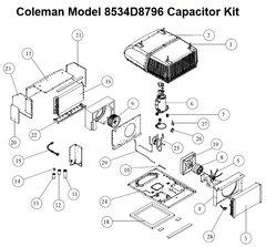 Coleman Heat Pump Model 8534D8796 Capacitor Kit